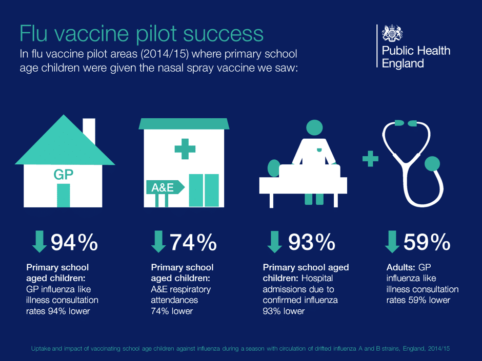 Flu vaccination success diagram and results