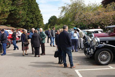 Public Admiring Classic Cars