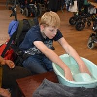 Sensory time with foot Spa