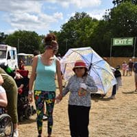 Enjoying the Sunshine at Womad