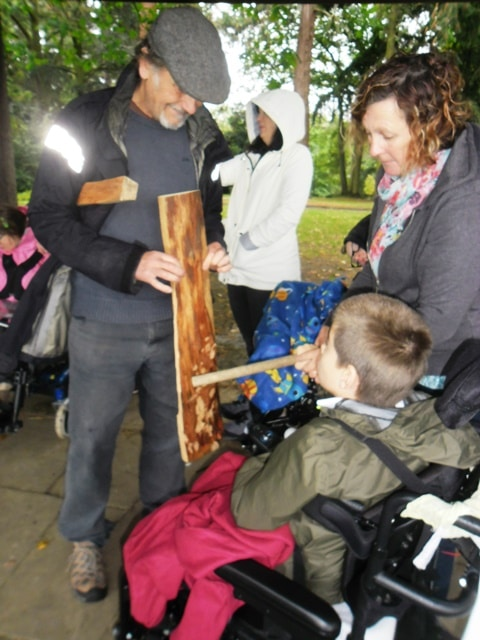Class learning at Stratford Park Sensory Garden